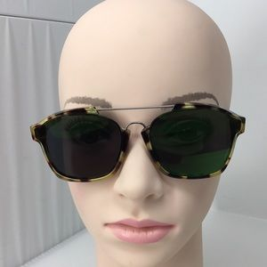 Dior Abstract Square Mirrored Sunglasses, 58mm D8